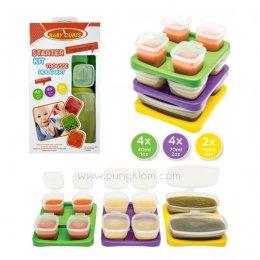 Baby Cubes Starter Kits ภาชนะเก็บอาหารเด็ก แช่แข็ง ไมโครเวฟ