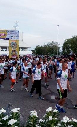 เดิน วิ่ง ปั่นสมาธิ วิสาขพุทธบูชา ลด ละ อบายมุข 2561
