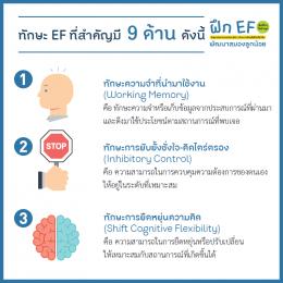 ฝึก EF พัฒนาสมองลูกน้อย (Executive Function)
