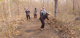 โครงการซ้อมแผนป้องกันและบรรเทาสาธารณภัย(กิจกรรมทำแนวกันไฟป่าป่าชุมชนบ้านวังสิงห์