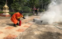 โครงการซ้อมแผนการป้องกันและบรรเทาสาธารณภัยกรณีเกิดอัคคีภัยในสถานศึกษา ปี 2562