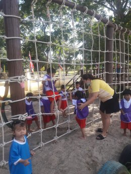 กิจกรรมส่งเสริมประสบการณ์การเรียนรู้ ด้วยสนามสร้างปัญญา 4 ฐานการเรียนรู้ผ่านการเล่น