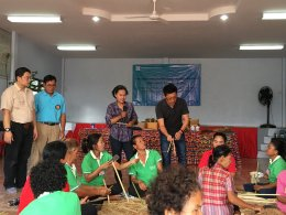 SACICT organized the bamboo weaving craft project