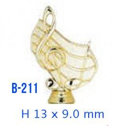 หัวป้ายรางวัล พลาสติก B-211
