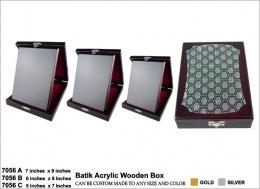 โล่ไม้ Wooden 7056 Batik Acrylic Wooden Box