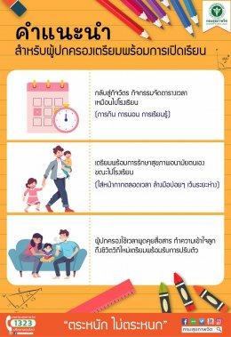 คำแนะนำสำหรับผู้ปกครองเตรียมพร้อมการเปิดเรียน