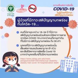 ความเสี่ยงต่อการติดเชื้อ COVID-19 ในผู้ป่วยที่มีภาวะสติปัญญาบกพร่อง