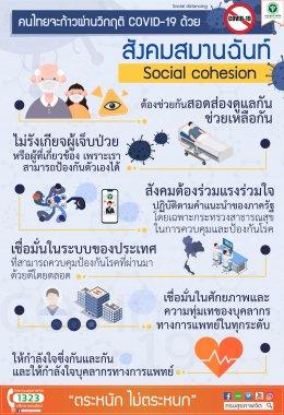 คนไทยจะก้าวผ่านวิกฤต COVID-19 ด้วยสังคมสมานฉันท์ (Social Cohesion)