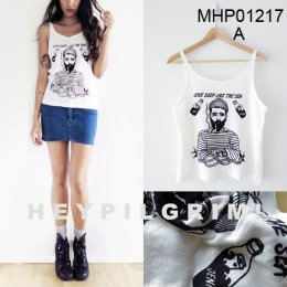 """HEY PILGRIM""WOMENS TANKTOP MADE TO ORDER PAGE 1"