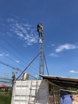 ติดตั้งระบบกล้องวงจรปิดชั่วคราว Site งานก่อสร้างของ HINO