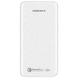 MOMAX iPower Dual USB +Type-C Port 10000mAh Power Bank for iPhone Samsung Huawei (WHITE)