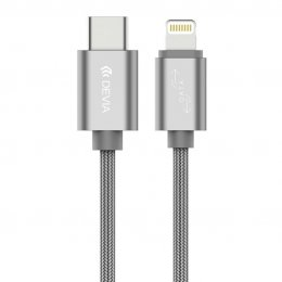 Devia Gracious USB-C TO LIGHTNING CABLE (Grey)