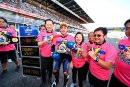 """เทพต๋ง - พีรพงศ์ บุญเลิศ บู๊คู่แข่งสุดมันส์ ผงาดโพเดี้ยม ฉลอง """"แชมป์เอเชีย"""" Super Sports 600cc ต่อหน้ากองเชียร์ไทย"""