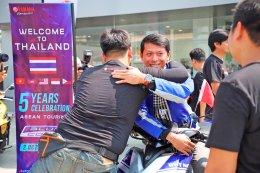 ยามาฮ่าต้อนรับขบวนอาเซียนบลูคอร์ทัวริ่ง ก่อนเข้าแวะชมยามาฮ่าพรีเมี่ยมเซอร์วิส พร้อมร่วมกิจกรรมมีทแอนด์กรี๊ด 4 นักแข่ง MotoGP สังกัดทีมยามาฮ่า