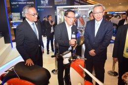 ยามาฮ่าจัดแสดงรถจักรยานยนต์ไฟฟ้า ยามาฮ่า E-Vino ในงาน TAPA 2018