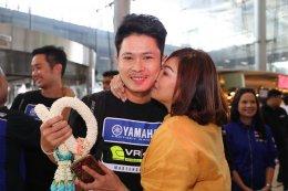 ยามาฮ่าต้อนรับฮีโร่นักบิดไทย แสตมป์ - อภิวัฒน์ กลับเมืองไทย หลังคว้าอันดับ 3 ศึกชิงแชมป์โลกรายการ CEV Moto3