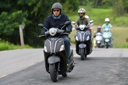 ยามาฮ่าจัดทริปสุดไฮคลาส พาสื่อมวลชนทดสอบขับขี่ New Yamaha Grand Filano Hybrid ที่เขาใหญ่