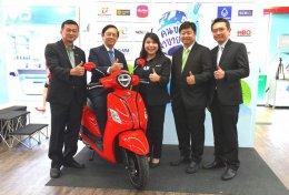 ยามาฮ่ามอบรถจักรยานยนต์ไฮบริดให้สมาคมนักข่าวในงาน คนข่าวมาขายของ ครั้งที่ 3