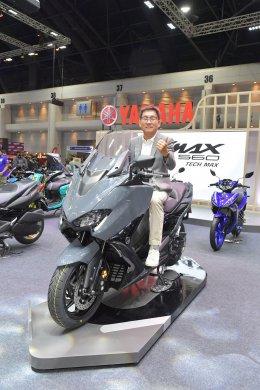 ยามาฮ่าเปิดตัว TMAX Tech Max สีใหม่ Tech Kamo และ Power Grey ครั้งแรกในเอเชียในงานมอเตอร์เอ็กซ์โป