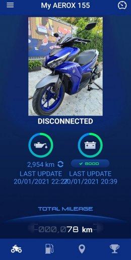 Y-Connect แอปพลิเคชั่นสุดล้ำใน All New AEROX 155
