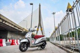 ยามาฮ่า แกรนด์ ฟีลาโน่ ไฮบริด ขี่กินลมชมสามสะพานข้ามแม่น้ำเจ้าพระยาในกรุงเทพฯ