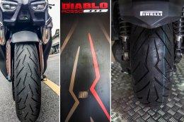 Pirelli Diablo Rosso Scooter ยาง High Performance สำหรับสกู๊ตเตอร์ตัวจริง รีวิวการใช้งานจริงกับระยะทางกว่า 3,000 กม. แรก!!!