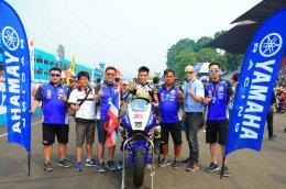 """""""ตั้น - เบียร์"""" ควบ R6 ฝ่าพายุฝน ควงคู่คว้าดับเบิ้ลโพเดี้ยม SuperSport 600 cc ธงไทยโบกสะบัดอย่างยิ่งใหญ่ ศึกชิงแชมป์เอเชีย สนาม 4 ประเทศอินโดนีเซีย"""