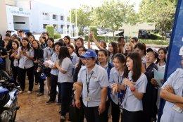 ทัพนักบิดทีมยามาฮ่า ร่วมกิจกรรม Meet & Greet กับพนักงานยามาฮ่า พร้อมแจกของรางวัลอย่างมากมาย