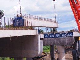 สะพานข้ามลำห้วย ต.บ้านเก่า อ.เมือง จ.กาญจนบุรี