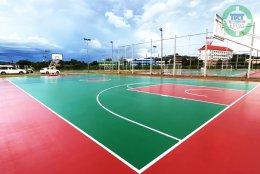 สนามบาสเกตบอล ระบบ EPDM- NR Binder (Top PU)
