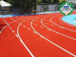 ลู่วิ่งลานกรีฑา โรงเรียนนานาชาติ ธาราพัฒนา พัทยา