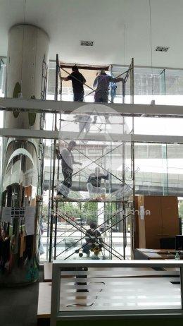 งานติดตั้งกระจกของบริษัทไทยยานยนต์