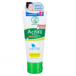 MENTHOLATUM ACNES ANTI-BACTERIAL FOAMING FACE WASH WHITE