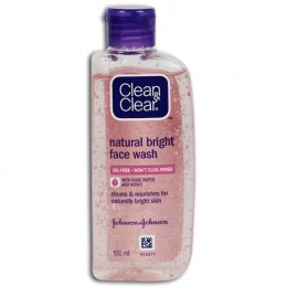 CLEAN & CLEAR NATURAL BRIGHT FACE WASH OIL-FREE