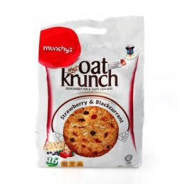 Munchy's strawberry & blackcurrant  Oat Krunch Crackers
