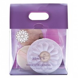 BISOUS BISOUS miracle blooming anti-aging powder pact Classic Tan #12 set
