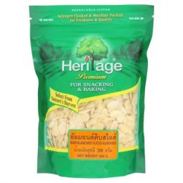 HERITAGE Raw Blanched Sliced Almonds