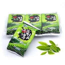 BUBU FOOD GREEN TEA FLAVOR ROASTED SEAWEED 3x5 g.