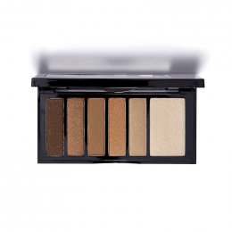Kiss New York Professional Hexa Eyeshadow Palette #KESP 02 Nude Brown
