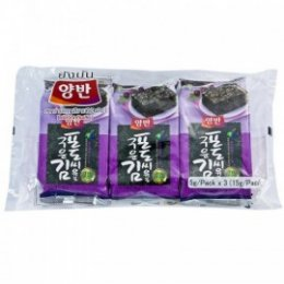 YANGBAN SEASONED LAVER WITH GRAPE SEED OIL 3x5 g.