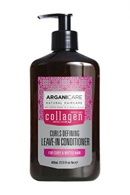Arganicare Nourishing Collagen Leave-in Conditioner for Curly & Brittle Hair 400 ml.
