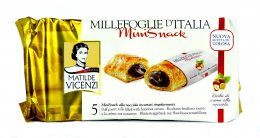 MATILDE VICENZI mini snack puff pastry rolls filled with hazelnut cream 125 g.