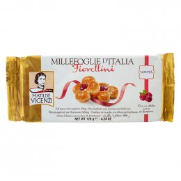 MATILDE VICENZI fiorellini puff pastry with raspberry filling 120 g.