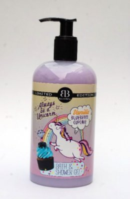 BETTINA BARTY LIMITED EDITION VANILLA BLUEBERRY CUP CAKE BATH & SHOWER GEL 500 ml.