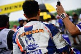 คู่หูไทยยามาฮ่า ตั้น - เดชา และ เบียร์ - เฉลิมพล ใจเกินร้อยกระชากคันเร่ง R6 จบอันดับ 5 - 6 เรซ 2 รุ่น Super Sport 600 cc ศึกชิงแชมป์เอเชียสนาม 5