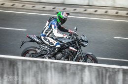 First contact with the all new Triumph RS 765
