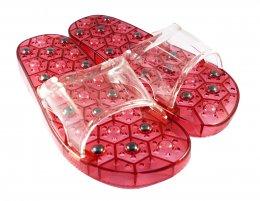 รองเท้าแม่เหล็กสีแดง