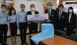 IRPC มอบผ้าสปันบอนด์ให้ รพ.วชิรพยาบาล ตัดชุด PPE