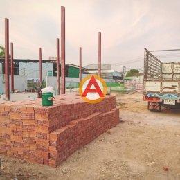 ส่ง อิฐแดง 4 รู ใหญ่ ขนาด 6x6x15 ซม. หน้างาน อ.เมือง จ.นนทบุรี
