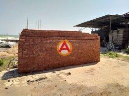 อิฐมอญแดง 2 รู หน้างาน แหลมหลวงรีสอร์ท อ.บ้านแหลม จ.เพชรบุรี